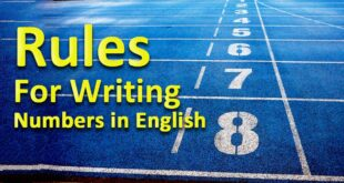 Rules for writing numbers in English